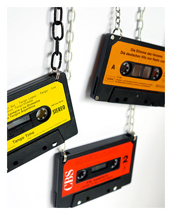 Upcycled DIY cassette tape pendant