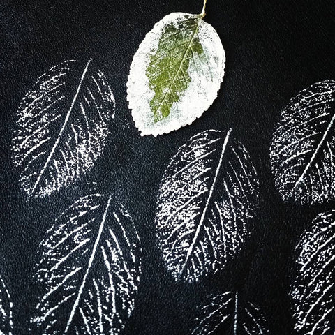 How to print leaf to leather