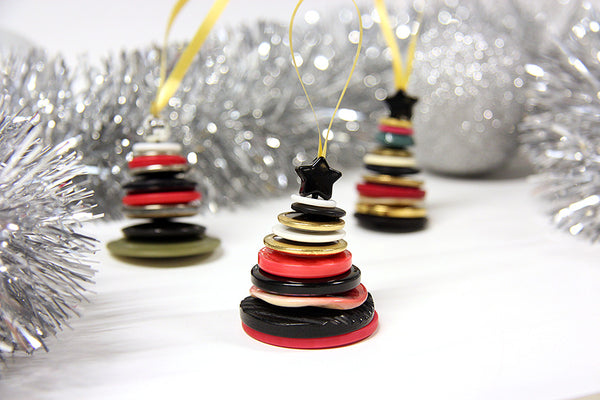 upcycled button tree