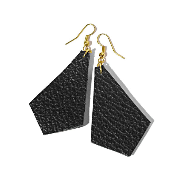 recycle leather earrings