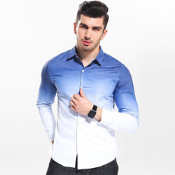 Mens Casual Ombre Cotton Shirts & Tops