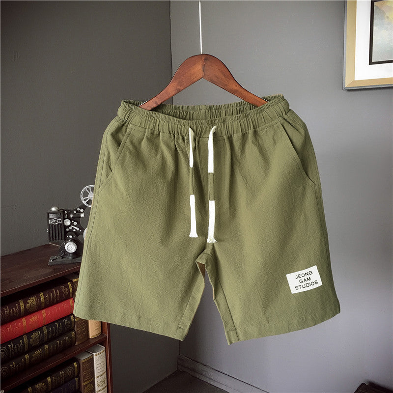 Men's Shorts Pockets Drawstring Solid Casual Shorts