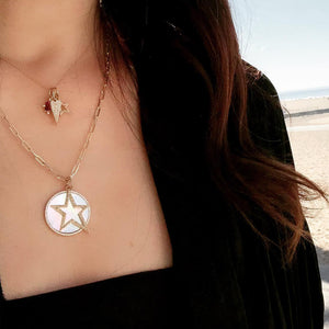 BABY HOLLOW DIAMOND STAR PENDANT - Bridget King Jewelry