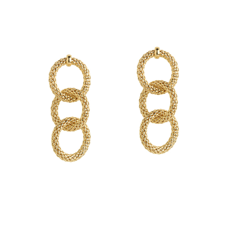 TRIPLE LINK MESH EARRINGS - Bridget King Jewelry