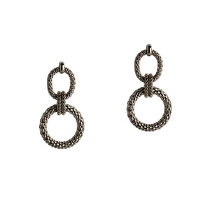 CENTER KNOT MESH EARRINGS - Bridget King Jewelry
