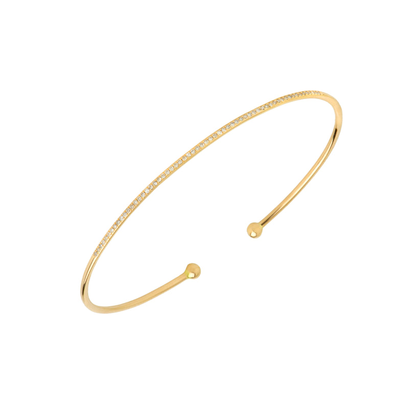 SINGLE ROW DIAMOND BANGLE - Bridget King Jewelry