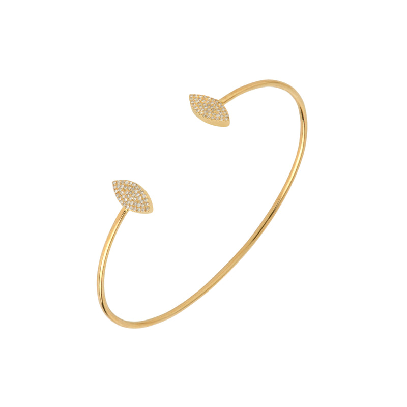 PAVÉ MARQUIS DIAMOND BANGLE - Bridget King Jewelry
