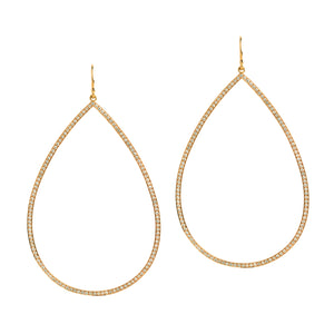 LARGE DIAMOND TEARDROPS - Bridget King Jewelry