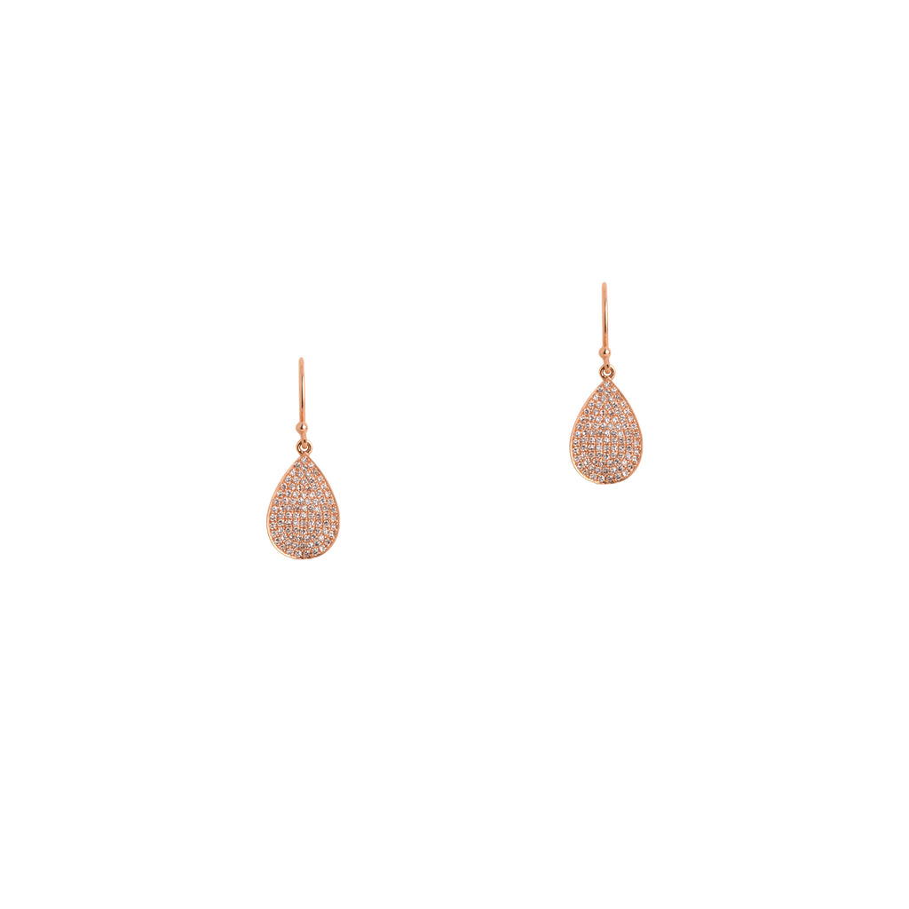 MINI PAVÉ DIAMOND TEARDROPS - Bridget King Jewelry