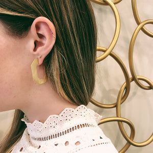 FLAT ANGULAR HOOPS - Bridget King Jewelry