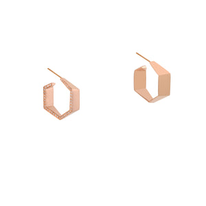 HEXAGON DIAMOND EARRINGS - Bridget King Jewelry