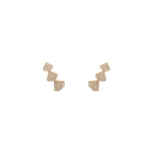 TRIPLE SHIELD STUDS - Bridget King Jewelry
