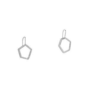 HEXAGON DIAMOND DROP EARRINGS - Bridget King Jewelry
