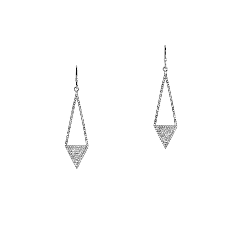 DIAMOND ARROW EARRINGS - Bridget King Jewelry