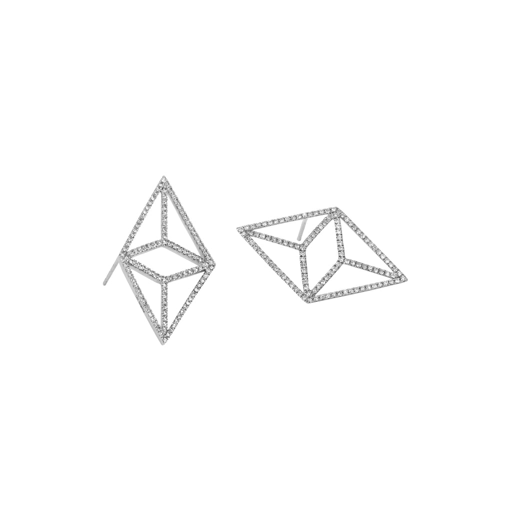 DIAMOND KITE STUDS - Bridget King Jewelry