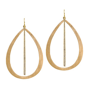 LARGE STACKABLE TEARDROPS & DIAMOND STICK EARRINGS - Bridget King Jewelry