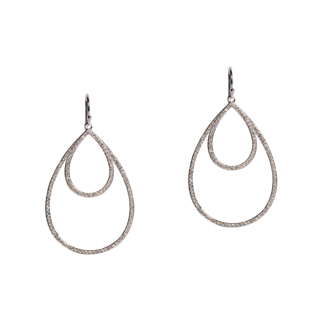SMALL & MEDIUM DIAMOND TEARDROPS - Bridget King Jewelry