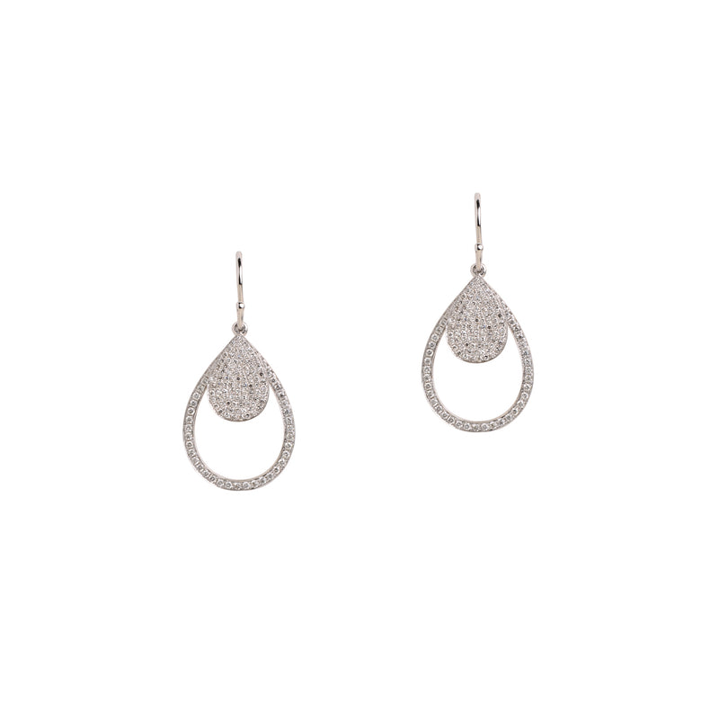 MINI PAVÉ & SMALL DIAMOND TEARDROPS - Bridget King Jewelry