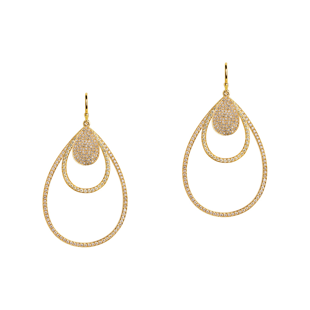 MINI PAVÉ, SMALL & MEDIUM DIAMOND TEARDROPS - Bridget King Jewelry