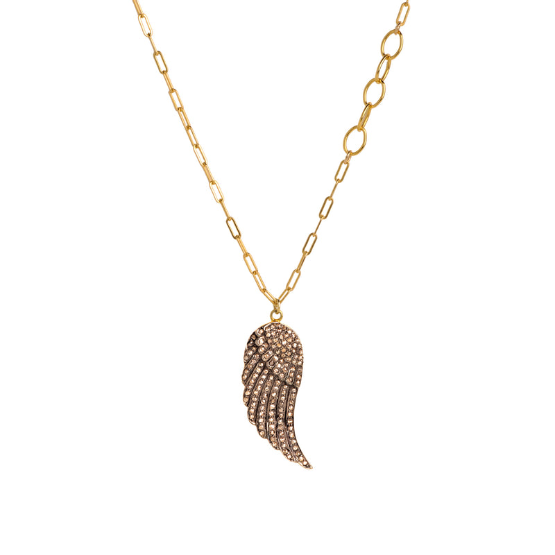DIAMOND WING NECKLACE - Bridget King Jewelry