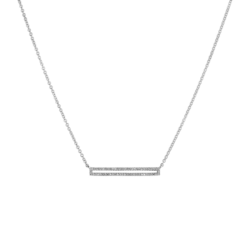 OPEN BAR DIAMOND NECKLACE - Bridget King Jewelry