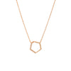HEXAGON DIAMOND NECKLACE - Bridget King Jewelry