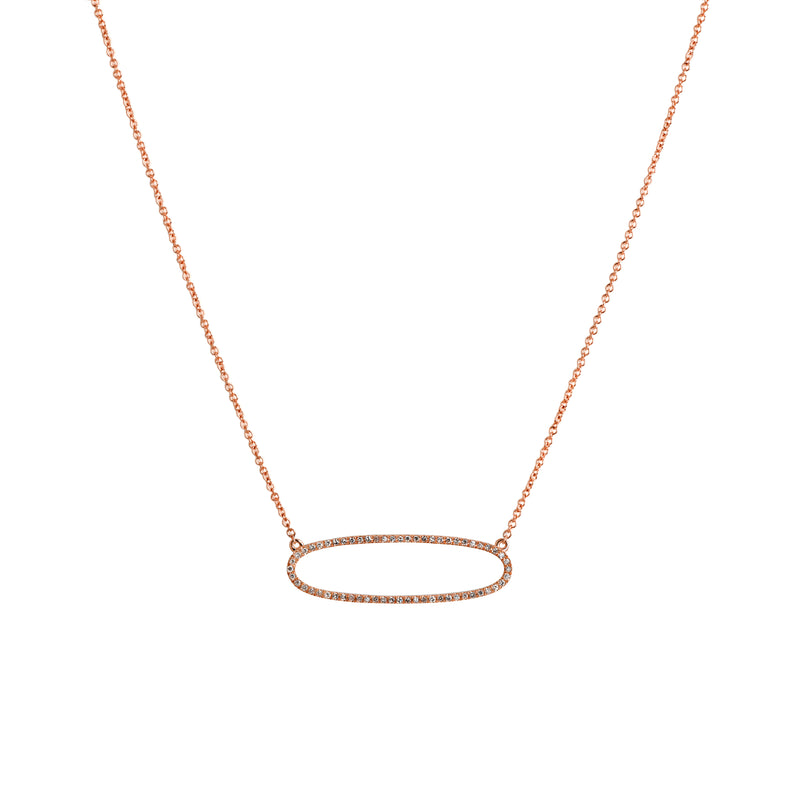 REVERSIBLE DIAMOND OVAL NECKLACE - Bridget King Jewelry