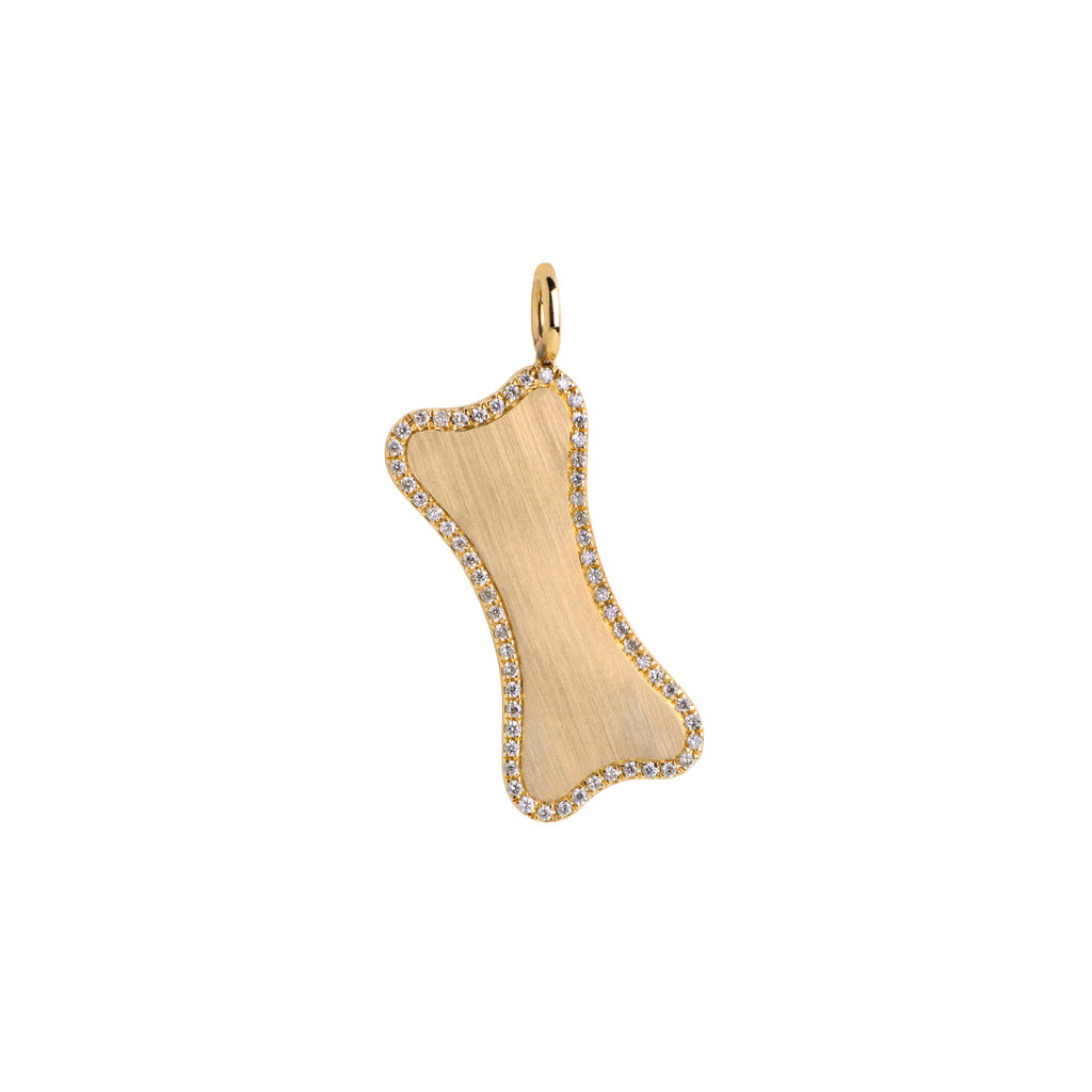 SMALL DIAMOND DOG BONE PENDANT - Bridget King Jewelry
