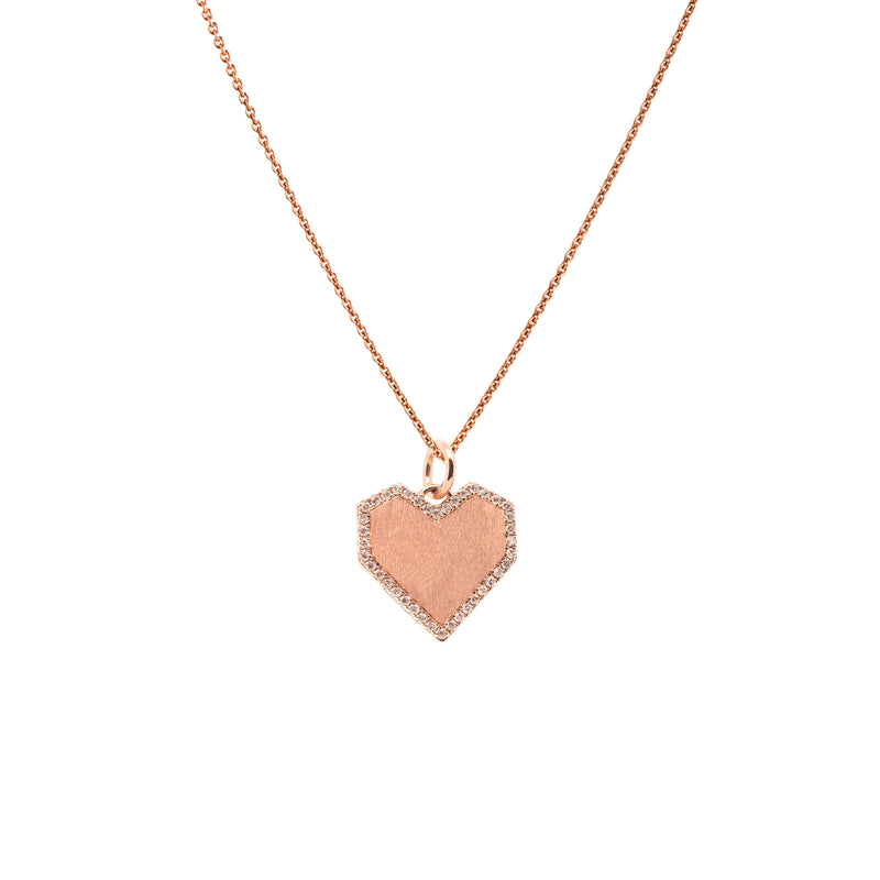 ANGULAR HEART NECKLACE