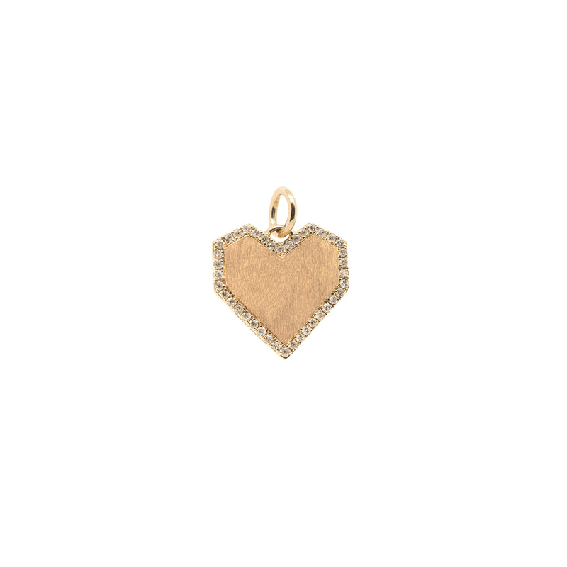 ANGULAR HEART PENDANT - Bridget King Jewelry