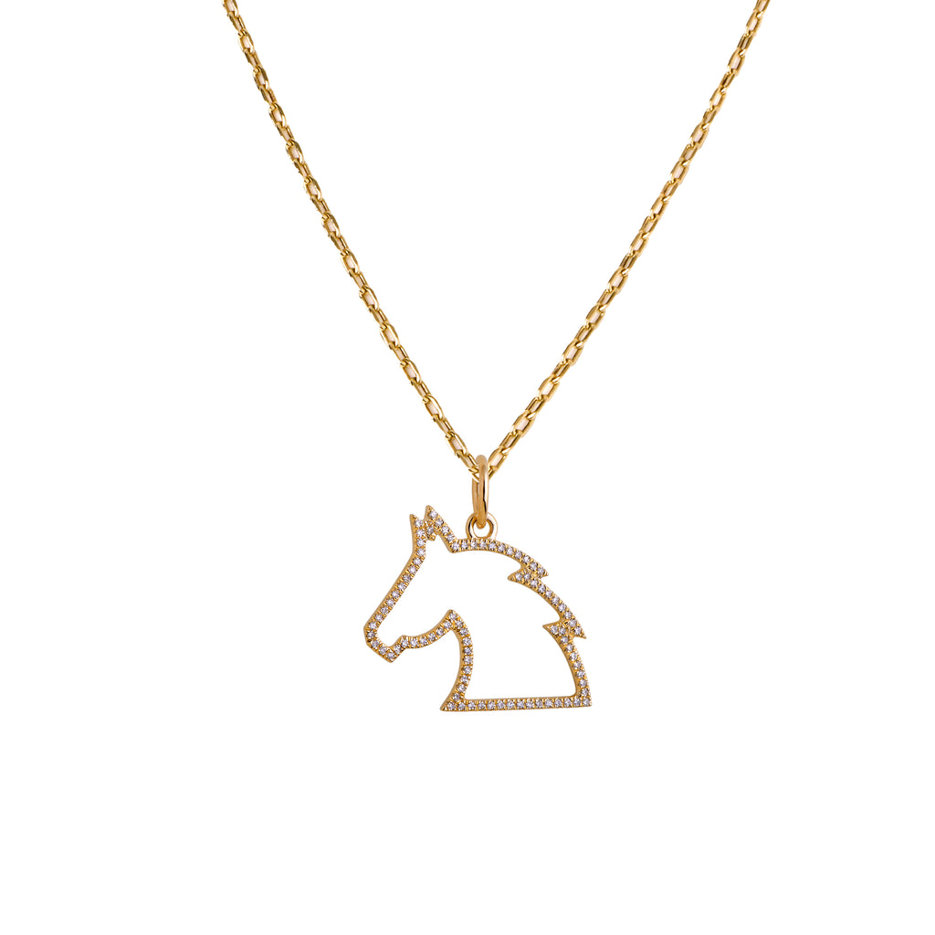 SMALL HORSE HEAD NECKLACE