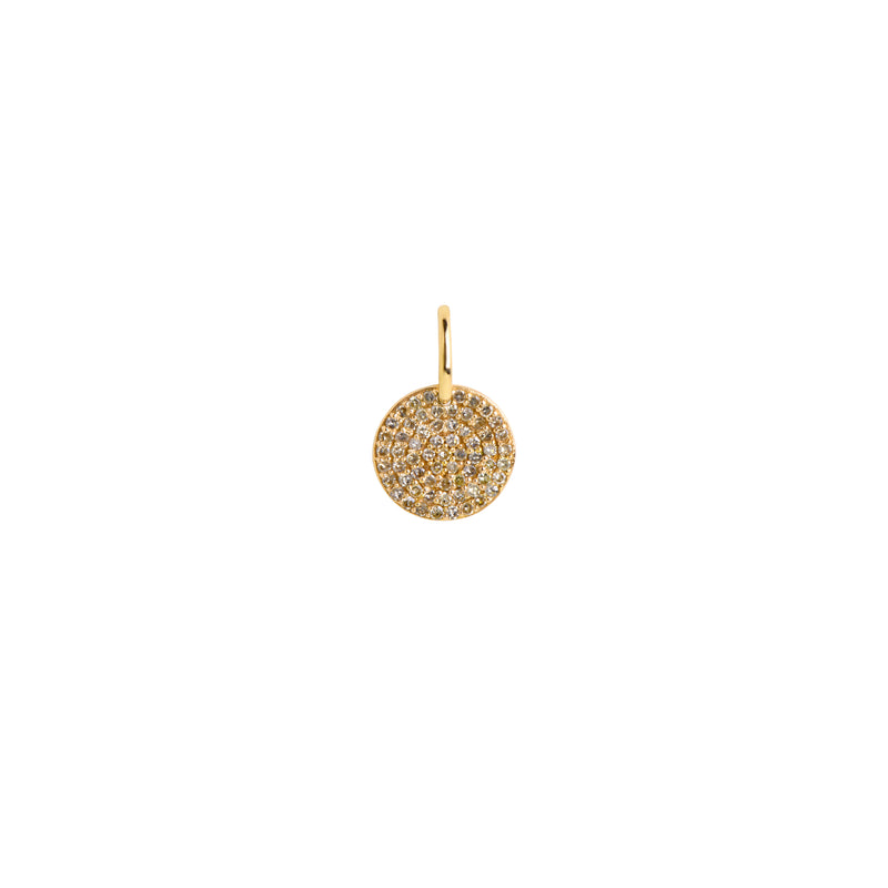 10MM ROUND PAVÉ DIAMOND PENDANT - Bridget King Jewelry