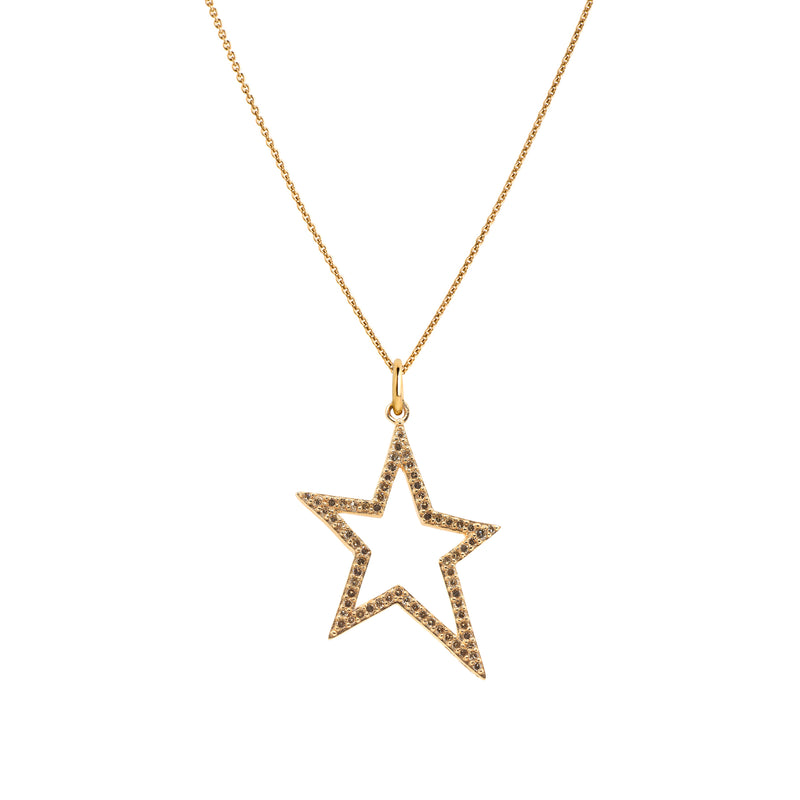 HOLLOW DIAMOND STAR NECKLACE