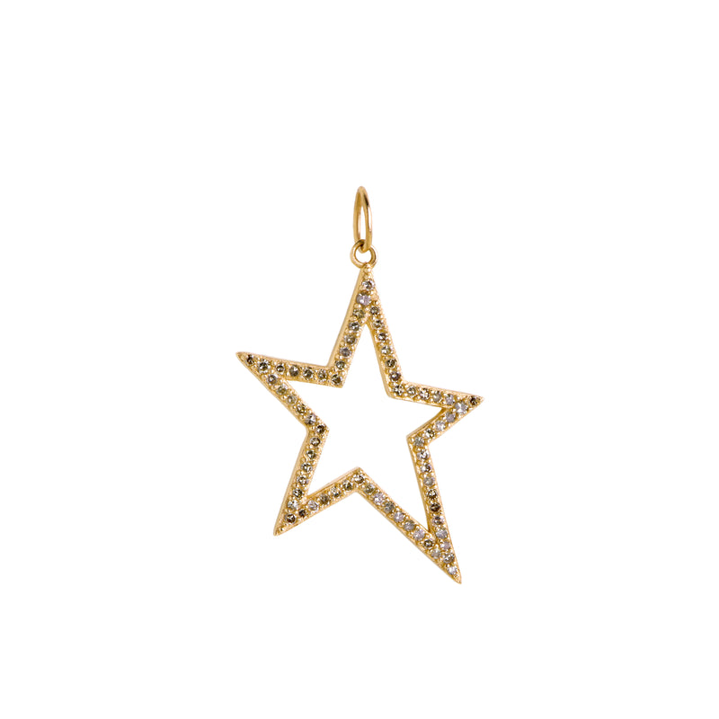 HOLLOW DIAMOND STAR PENDANT - Bridget King Jewelry