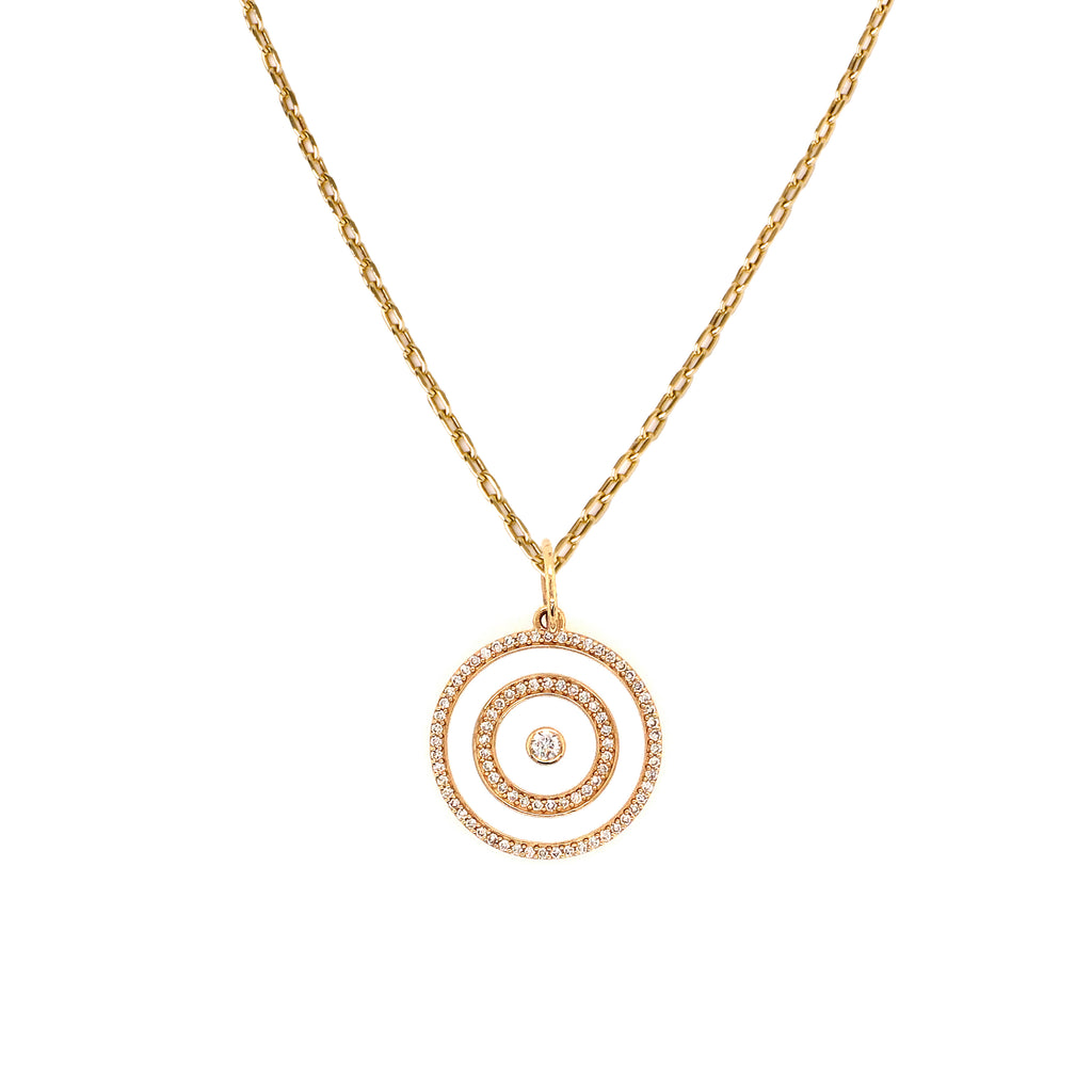 ENAMEL TARGET MEDALLION NECKLACE
