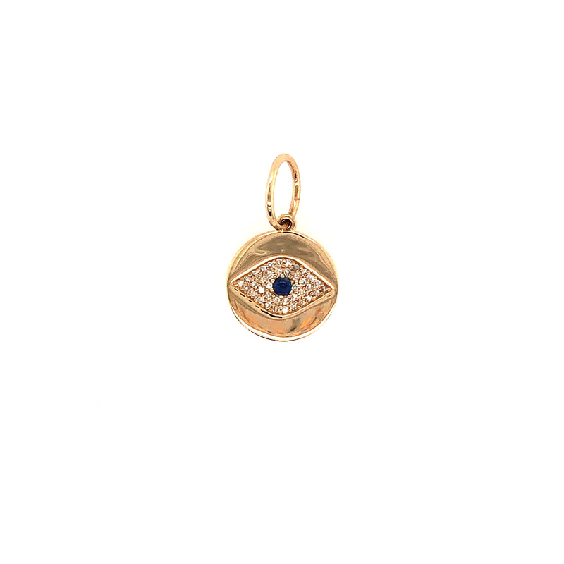 MINI DIAMOND EVIL EYE PENDANT