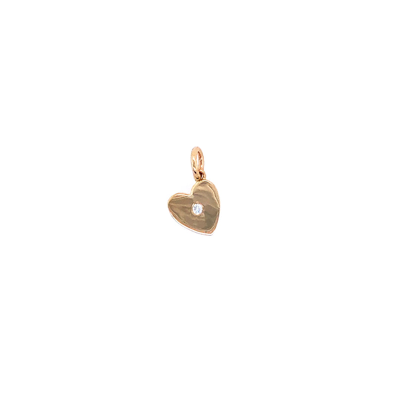 MINI HEART w/ DIAMOND PENDANT