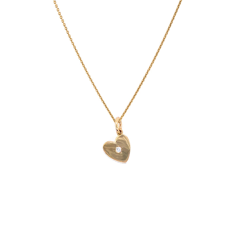 MINI HEART w/ DIAMOND NECKLACE