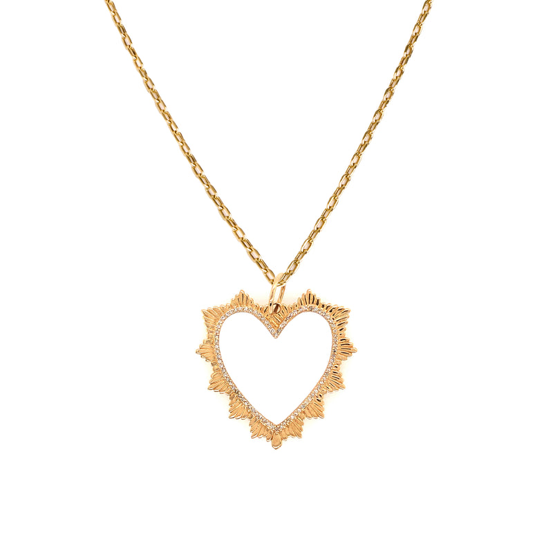 RADIATING HEART NECKLACE