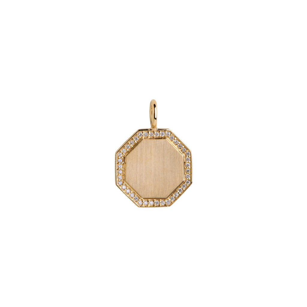 OCTAGON DIAMOND PENDANT - Bridget King Jewelry