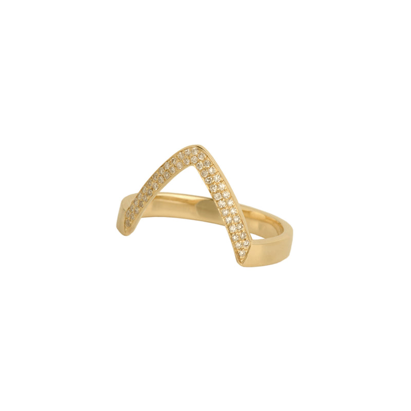 SINGLE CHEVRON DIAMOND RING - Bridget King Jewelry