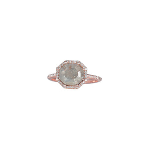 RECTANGULAR SLICED DIAMOND RING - Bridget King Jewelry