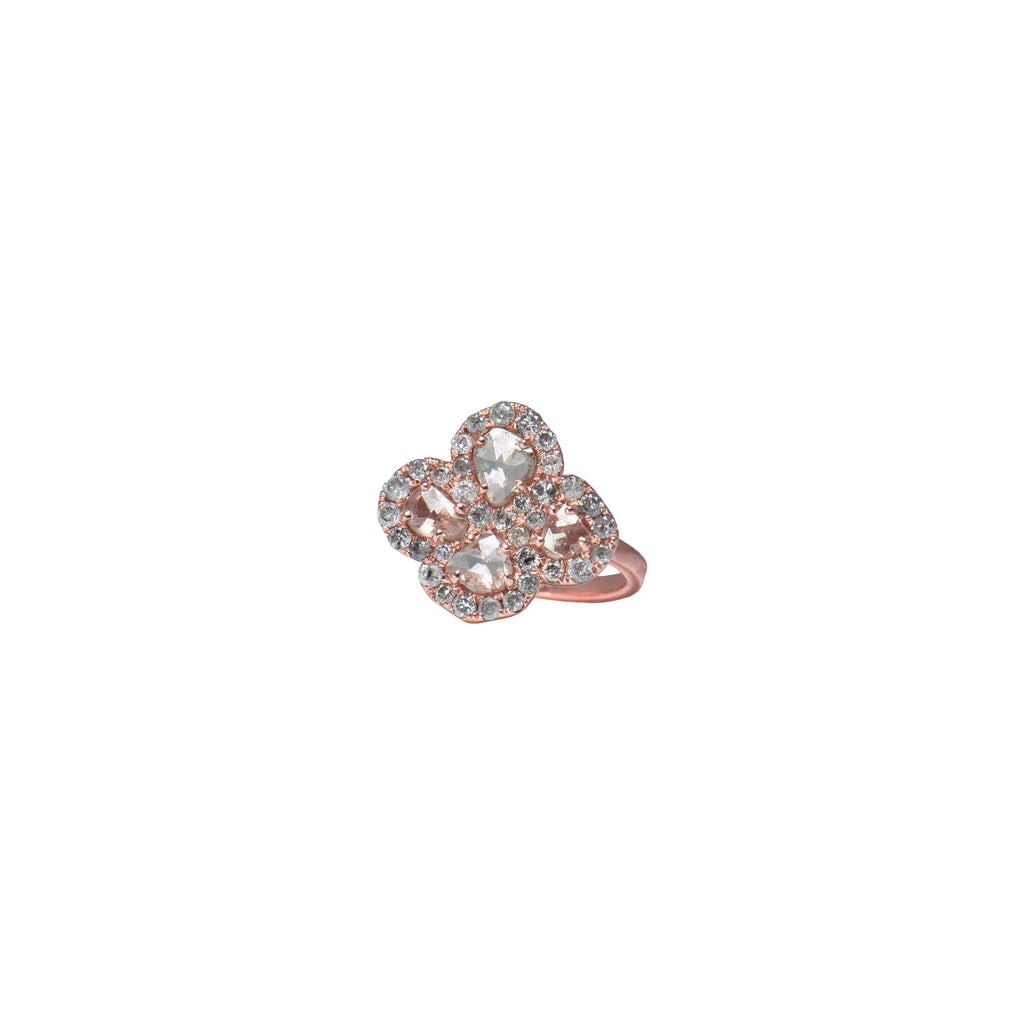 DIAMOND CLOVER RING - Bridget King Jewelry