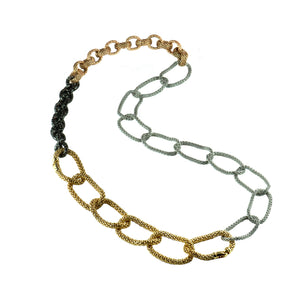 MIXED GOLD COMBO NECKLACE - Bridget King Jewelry