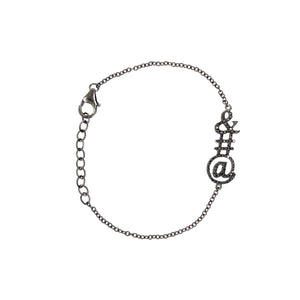 AMPERSAND BLACK DIAMOND BRACELET - Bridget King Jewelry