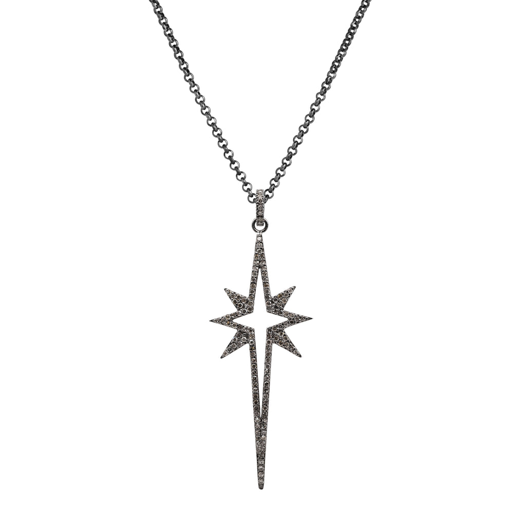 LARGE STARBURST SPEAR NECKLACE