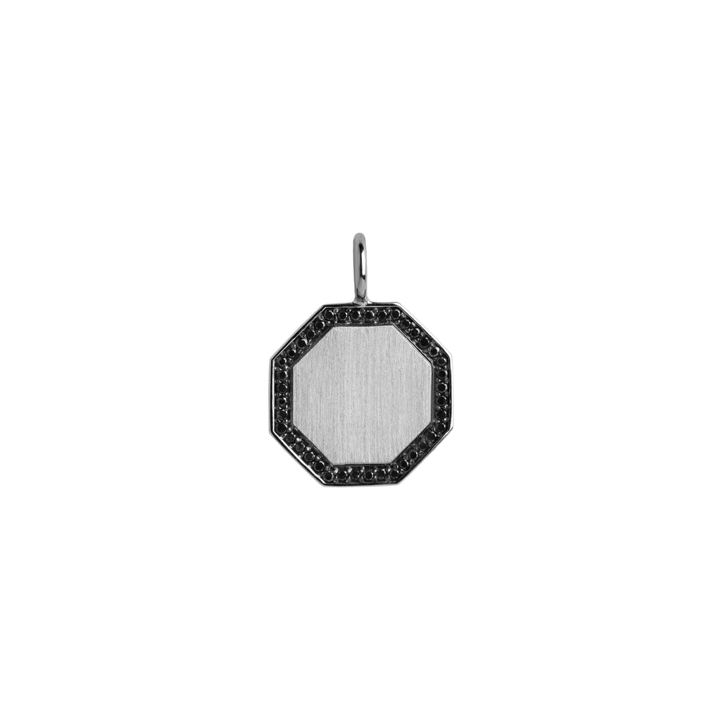 OCTAGON BLACK DIAMOND PENDANT - Bridget King Jewelry