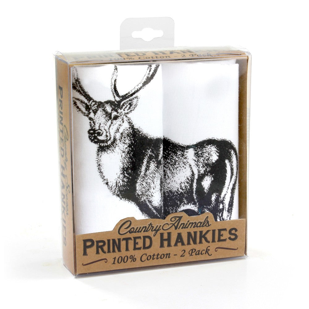 Printed cotton hankies. Pack of two. Comes in presentation box. High quality pocket squares are available for sale at Eclectic Hound in Winchester. Click to view the entire collection and stay cosy with Eclectic Hound.