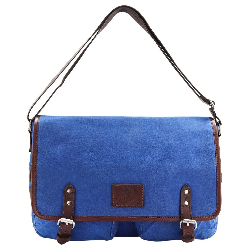 Make a bold statement with this blue canvas messenger bag. Shop at Eclectic Hound for high-quality, gorgeous travel luggage. Click to view the stunning collection.