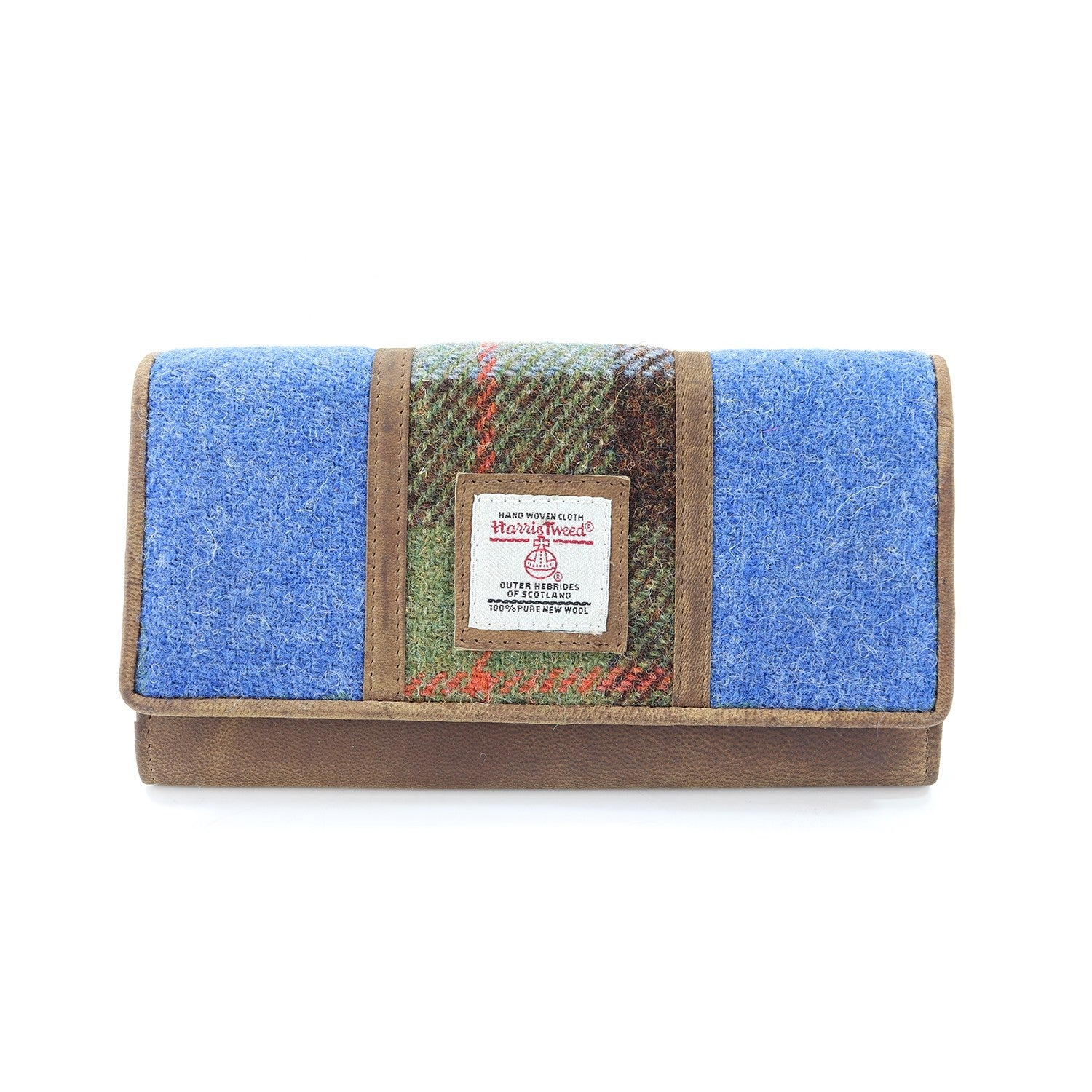 Harris Tweed Large Purse - Twin Colour Blue